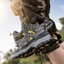 TKN Mens Outdoor Hiking Shoes 2019 Summer Air Mesh Breathable Waterproof Lace Up Soft Outdoor Sneakers Man Trekking Trail 1981