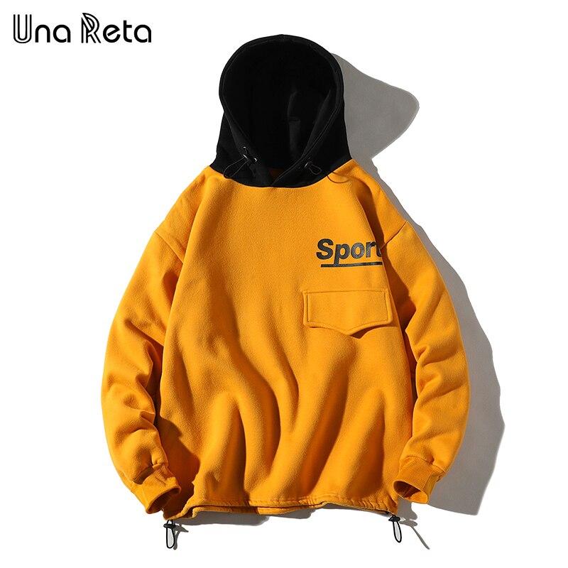 Una Reta Hip hop Homens Camisola Hoodies Outono Inverno Novo Fleece Pullover Camisolas Dos Homens Harajuku impressão Streetwear Casual