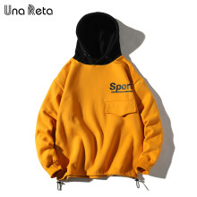 Una Reta Hip hop Men Hoodies Sweatshirt Autumn Winter New Fleece Pullover Sweatshirts Mens Harajuku printing Casual Streetwear(China)