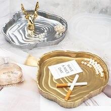Molde de resina Epoxy Irregular para cosmética, molde de silicona para plato, tocón de árbol, Cenicero, DIY