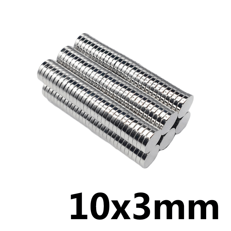 50/100/200pcs Bulk Small Mini Round NdFeB Neodymium Disc <font><b>Magnets</b></font> 10mm x 3mm N35 Super Disc Powerful 10x3 Strong <font><b>Magnet</b></font> 10*3mm image