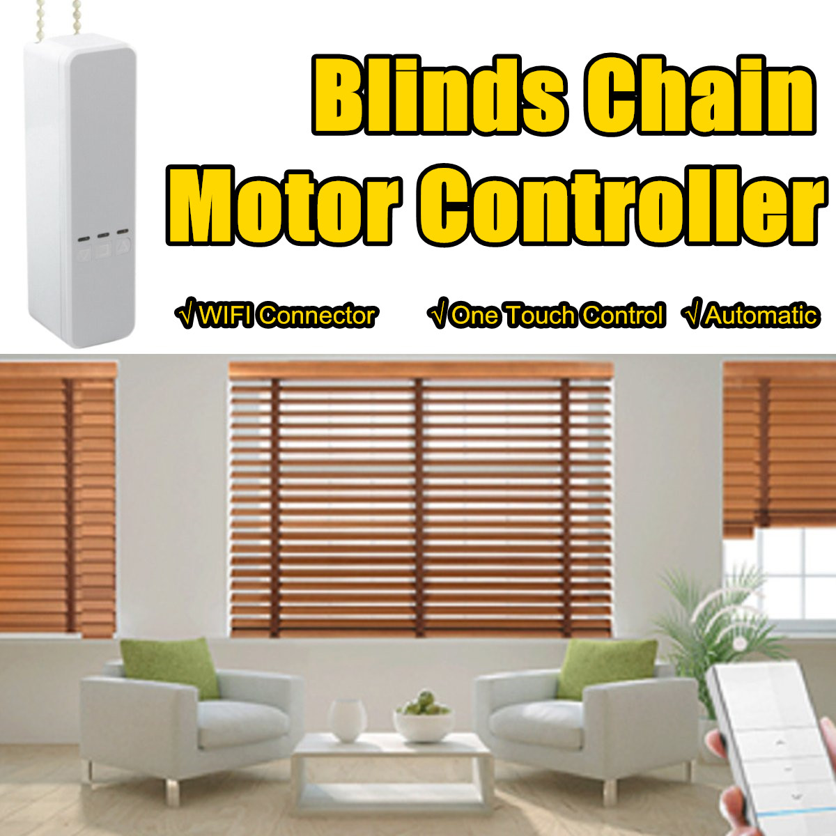 WIFI Tuya Smart Chain Curtain Motor Controller Smart Life APP WIFI Control Roller Blinds Motor Alexa/Google Smart Life Curtain
