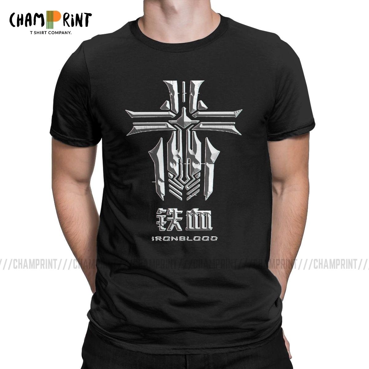 Iron Blood KMS Men's T Shirt Azur Lane Ocean War Game Funny Tee Shirt Short Sleeve Crew Neck T-Shirt Big Size Clothing