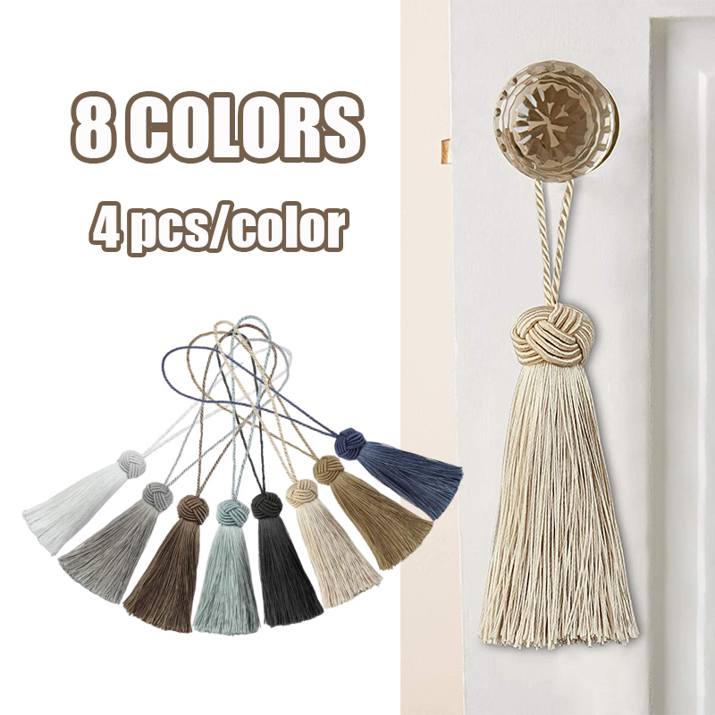 4Pieces Mini Tassel Fringe Trim DIY Craft Tassels Hanging Pendant Sewing Room Accessory Jewelry Decoration Curtain Accessories