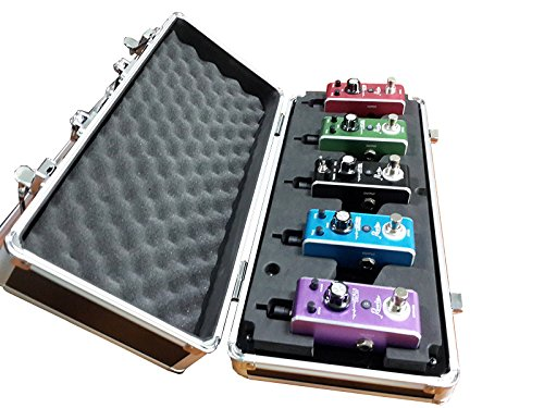 Rowin Guitar Pedal Board Capable For 5 Mini Pedals With Power Supply