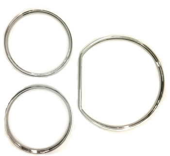 Chrome Styling Dashboard Gauge Ring Set for Mercedes Benz W210 00 02 / W202 00 02|for mercedes benz|gauge ringschrome dashboard gauge ring -