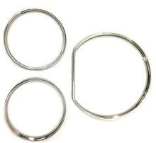 כרום סטיילינג לוח מחוונים מד טבעת סט עבור מרצדס בנץ W210 00 02/W202 00 02