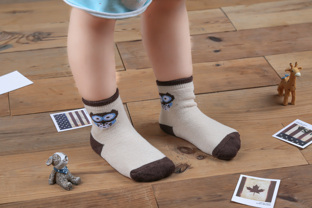 KID's Basic Pure Cotton Thick Multi-Size Winter Looped Pile Children's Socks Low Price Processing