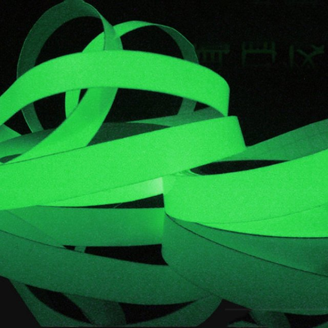 Luminous Tape 1.5cm*1m 12MM 3M Self-adhesive Tape Night Vision Glow In Dark Safety Warning Security Stage Home Decoration Tapes 3