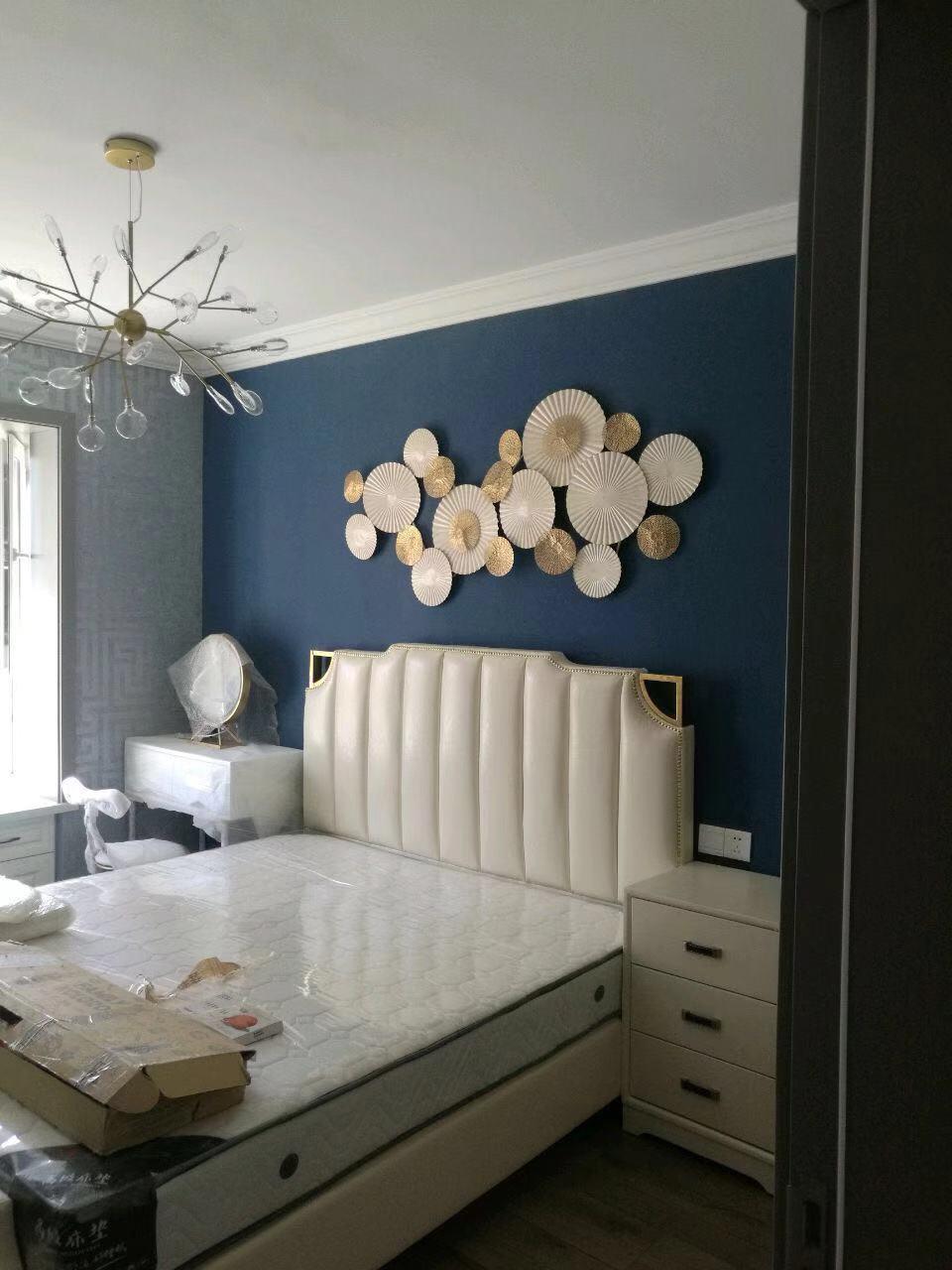 Decoración de pared de hierro de estilo europeo, decoración de pared tridimensional, decoración creativa de sala de estar - 3