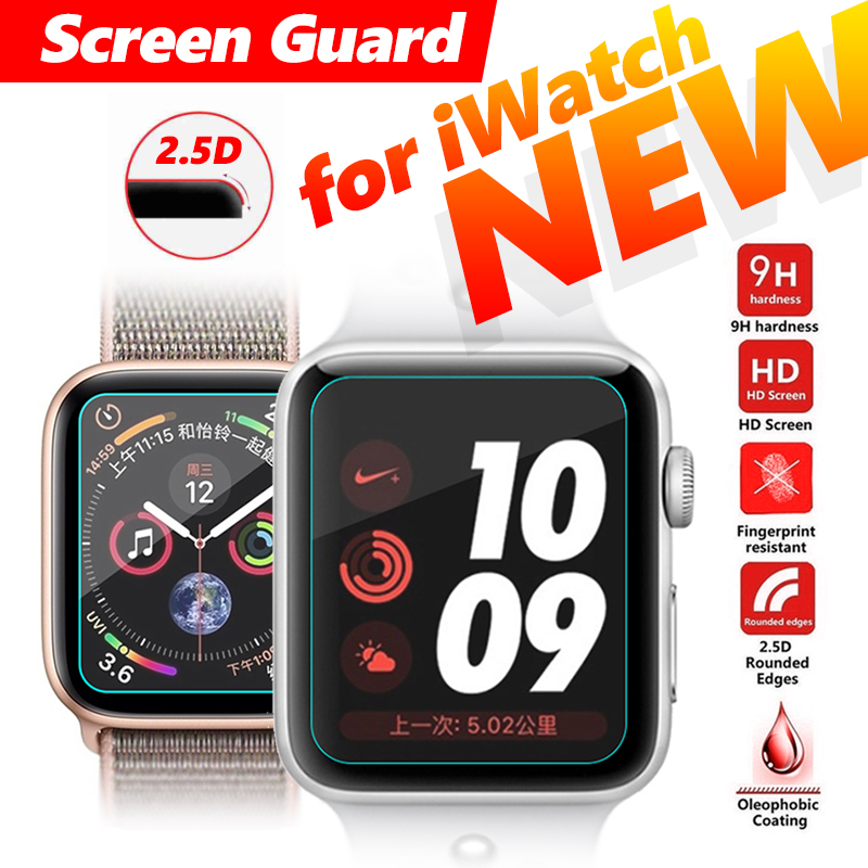 2.5D Tempered Glass Screen For Apple Watch 1 2 3 4 Guard Protector Protective Film For I Watch 44mm 40mm 38mm 42mm For IWatch