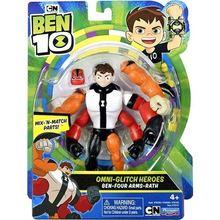 Ben 10 omnı-glıtch heróis i-quatro armas-rath figura de brinquedo figuras de ação diy montagem blocos de construção figuras presente com grande