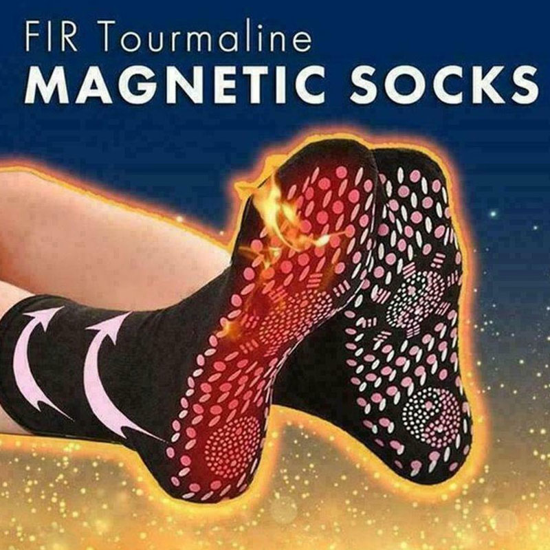 Tourmaline Magnetic Socks Self Heating Therapy Socks Warm Health Care Unisex  FDC99