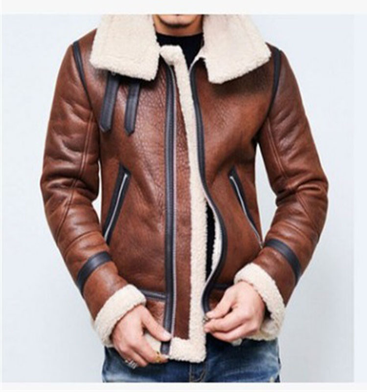 2019 Autumn And Winter Europe And America Hot Selling Zipper Jacket Thick Locomotive Men Retro Coat Leather Coat W101