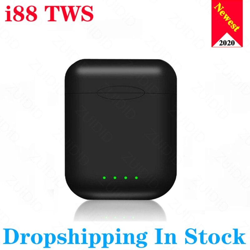 Original fosco portátil i88 tws 5.0 bluetooth controle de toque sem fio fones com microfone para o telefone inteligente xiaomi samsung huawei lg
