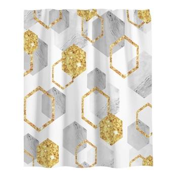1 8 × 1 8 m Nordic łazienka zasłona prysznicowa geometryczna zasłona prysznicowa z nadrukiem 3D druk cyfrowy marmurowa zasłona prysznicowa tanie i dobre opinie CN (pochodzenie) Fabric Nowoczesne 2020 Ekologiczne 5 9 * 5 9 ft (1 8 * 1 8 m) polyester flannelette Exquisite design high-density