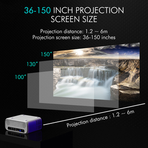 Image 5 - New UNIC E500 150 Inch 1280x720P 6000 Lumens LCD Projector 1080P Full HD HDMI WIFI Home Theater Android Proyector LED PK CP600