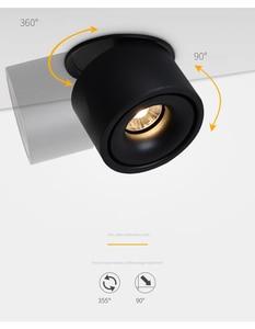 Image 3 - Luces empotrables de techo regulables, lámpara nórdica regulable de 10W, 12W, 15W, foco para punto de luz interior