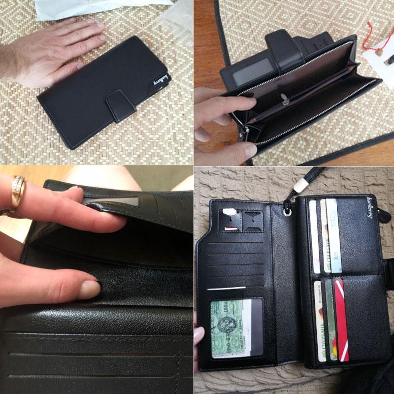 Купить с кэшбэком Baellerry Luxury Brand Men's Wallets Men Long Purse Wallet Male Clutch PU Leather Zippers Wallet Men Business Wallet Coin Purse