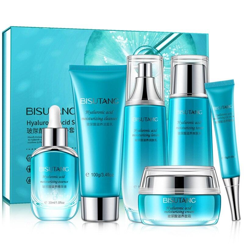novo bisuitang acido hialuronico nutritivo seis pecas conjunto hidratante facial cuidados com a pele cosmeticos conjunto
