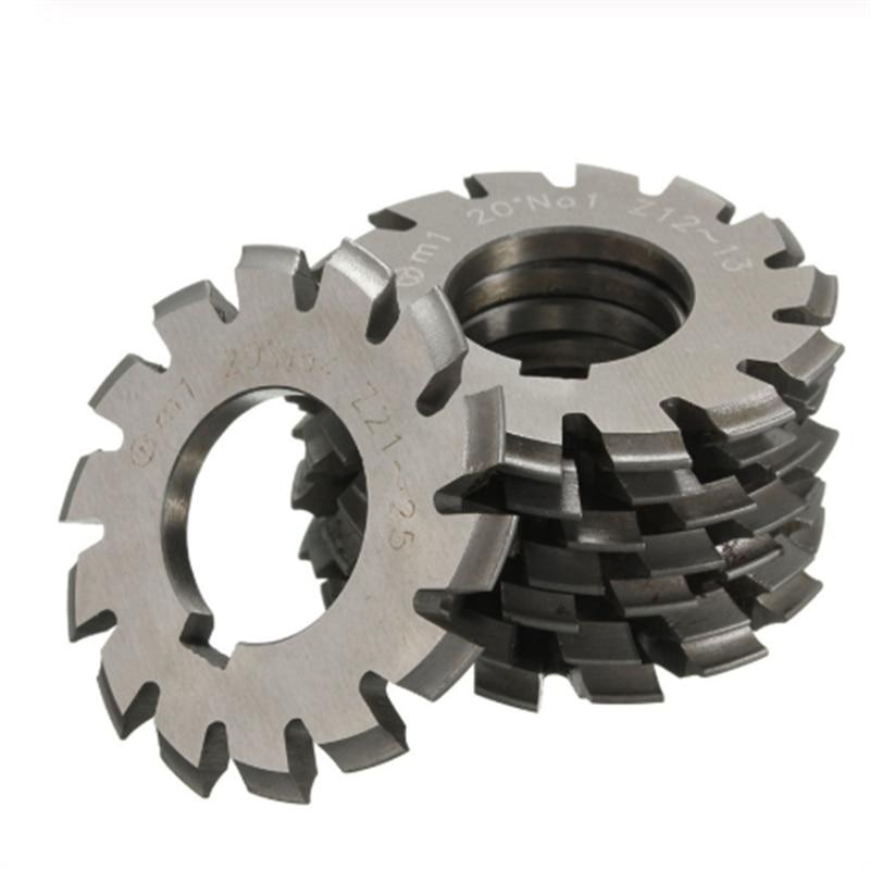 8PCS M0.4/M0.5/M0.6/M0.7/M0.8/M1/M1.25/M1.5/M2/M3/M4 Modulus PA20 Degrees NO.1-NO.8 HSS Gear Milling Cutter Gear Cutting Tools