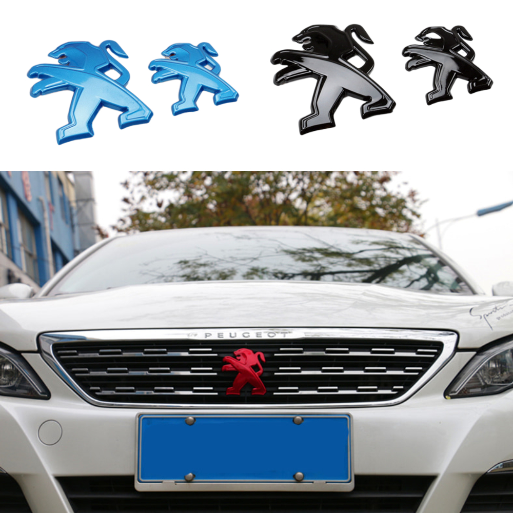 2 Pcs Car Emblem For Peugeot 408 308 4008 2019 408 2019 508L Front Grille Badge Rear Tailgate Emblem Decor Automobiles Styling
