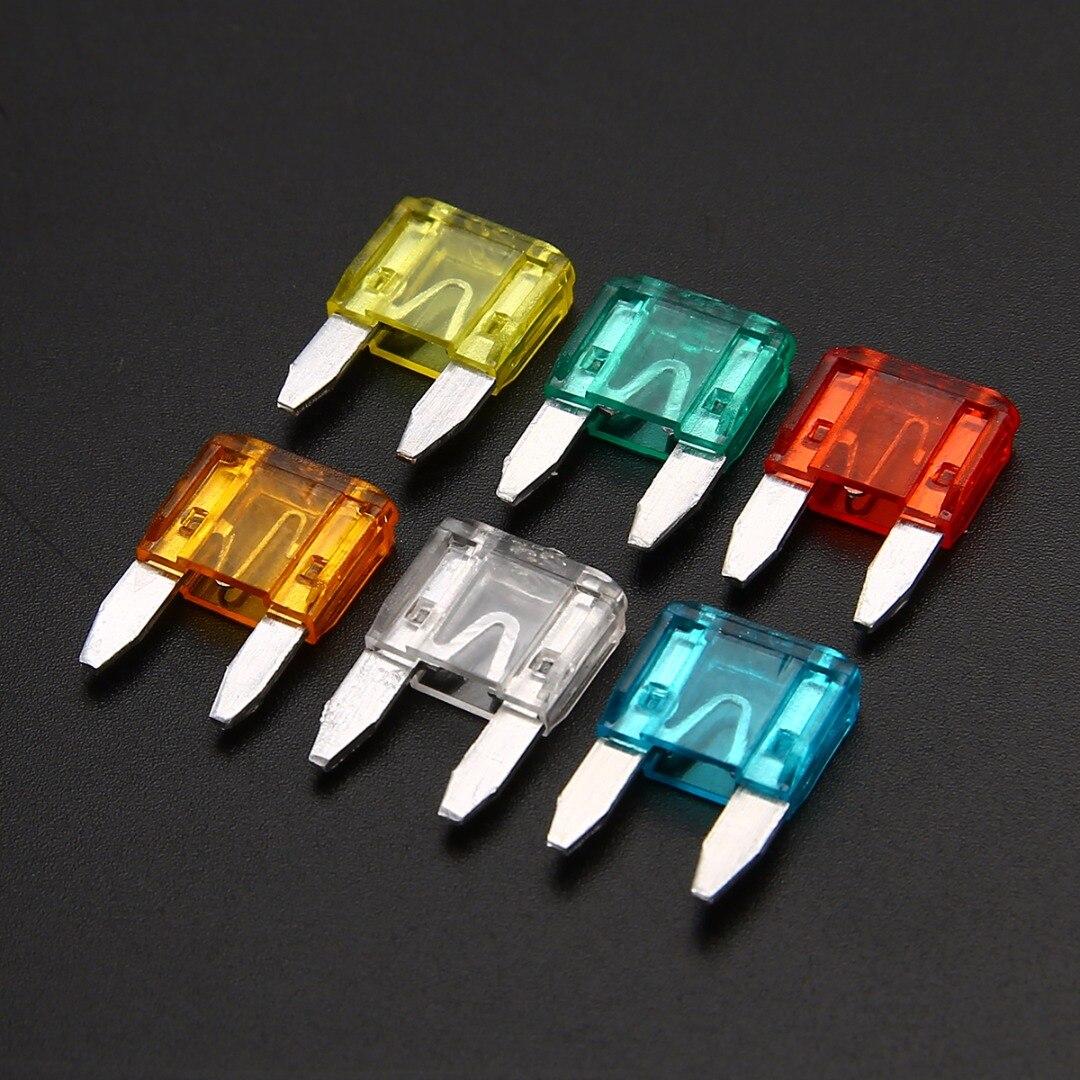 60 pces misturados mini lâmina fusível liga de zinco e material plástico 5a 10a 15a 20a 25 30a ampère conjunto para o caminhão do carro automático