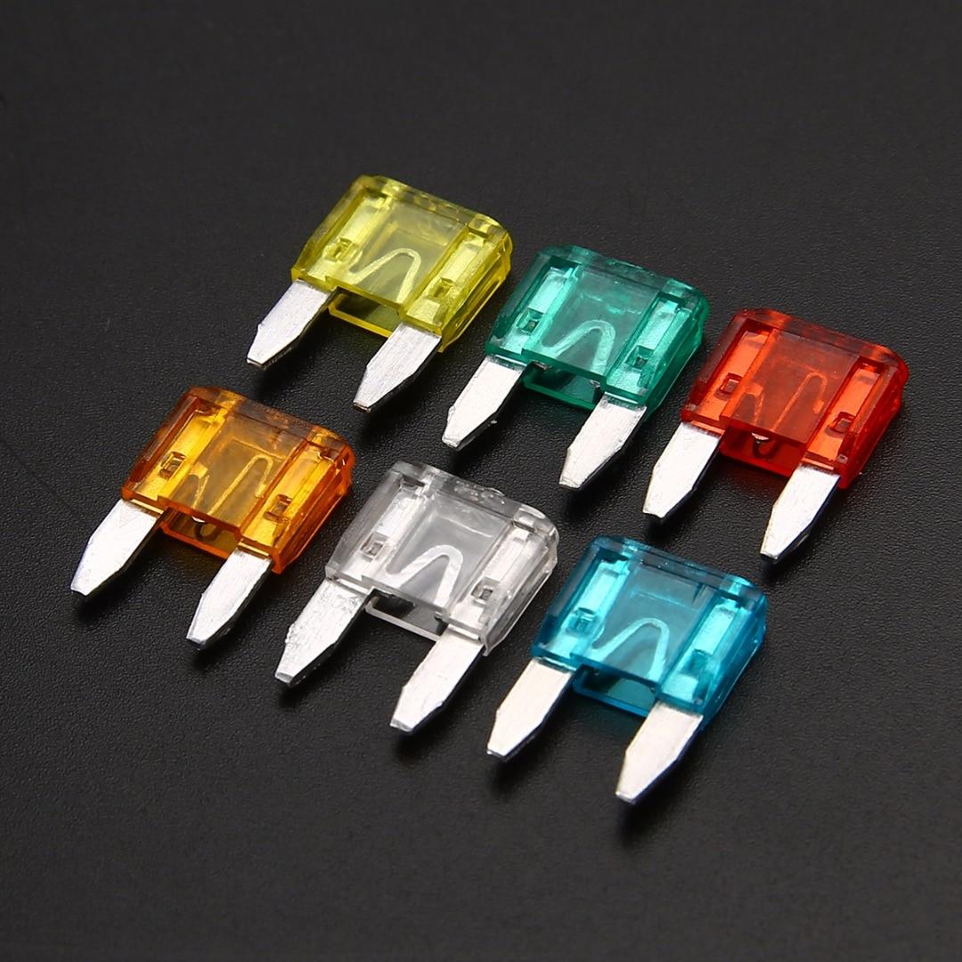60 pièces mélange Mini lame fusible en alliage de Zinc et matière plastique 5A 10A 15A 20A 25 30A ampères ensemble pour Auto voiture camion