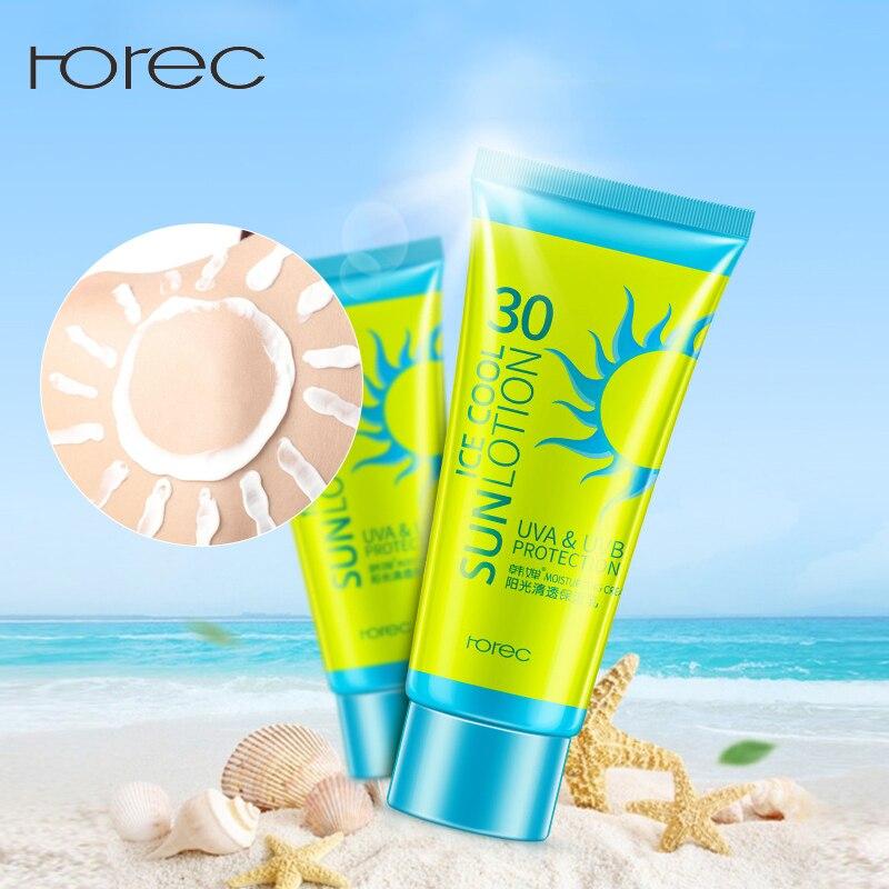 ROREC Gesicht Sonnencreme Creme Protetor Solar Gesichts Creme Sonne Haut Filter Foundation SPF 30 Sonne Lotion Gerben Öl Steuerung Feuchtigkeit