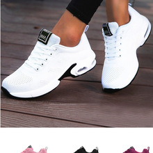 Mesh Sneakers Basket-Shoes Footwear Lightweight Ladies Trainers Pink Breathable Plus-Size