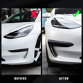 2021 передняя отделка лезвия для Tesla Model 3 аксессуары матовое углеродное волокно ABS черные белые автомобильные аксессуары Model3 три