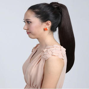 Fashion Slavic Natural Hair Ponytails 80gramsPiece High Quality Women Straight Wrap Around Ponytail Long Hair Free shipping