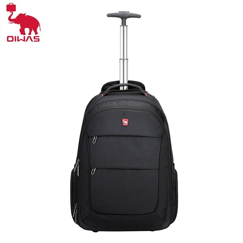 OIWAS hommes sac à dos Trolley sac de voyage d'affaires avec roues grande capacité sacs de sport ordinateur portable bagages sacs à dos pour femmes adolescents