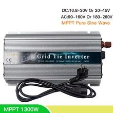 цена на 1300W MPPT On Grid Tie Inverter Solar Micro Inverter Inversor 18/24/30/36V To 110/220V For Solar Panel Battery Wind Generator