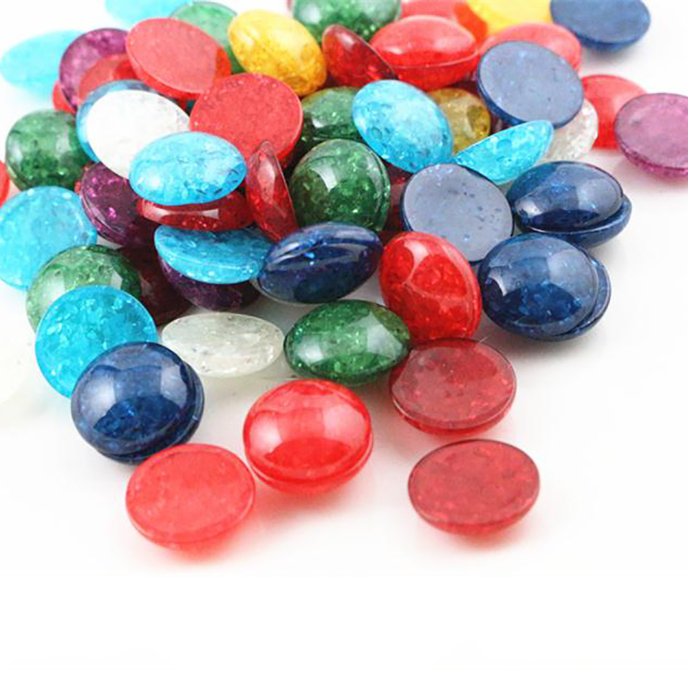 New Fashion 40pcs 12mm Mixed Color Flat Back Resin Cabochons Cameo