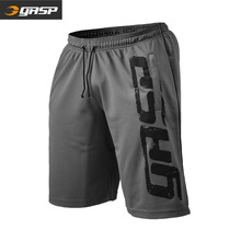 Muscle men's gasp European and American large size fitness short men's quick dry loose sports