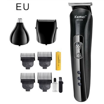 KM-1506 USB Multi Functional Rechargeable Wireless Electric Shaver Hair Clipper Beard Nose Ear Shaver Hair Trimmer For Men kemei km 8058 professional electric hair clipper washable multi functional shaver with scissors comb awls for barber