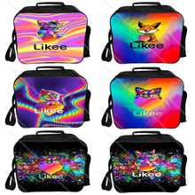 Likee app lunch bag thermal insulated cat fox colorful likee