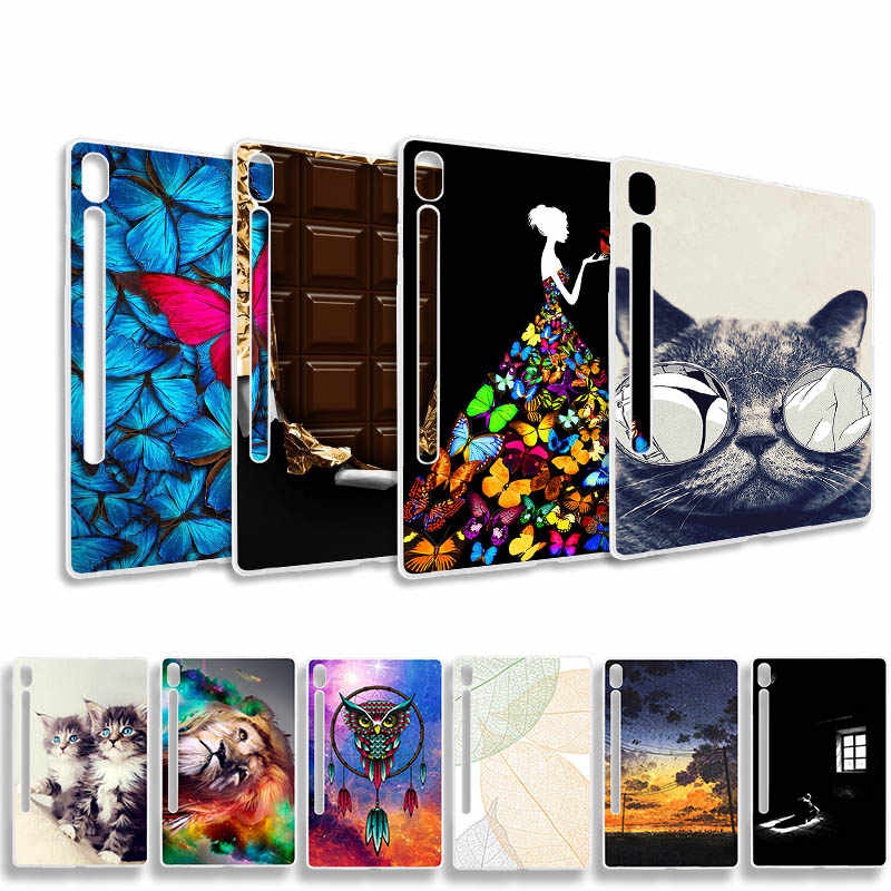 "Zachte Painted Case Voor Samsung Galaxy Tab S6 T860 T865 10.5 2019 10.5 ""Case Coque Mode Siliconen Cartoon Patroon tablet Cover"