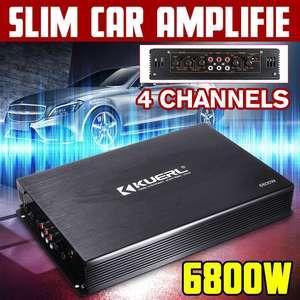 6800W 4 Channel Car Amplifier