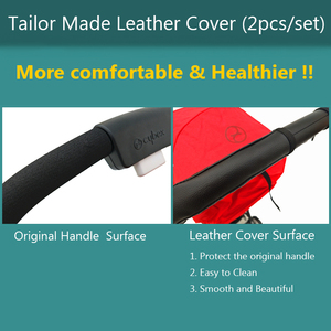Image 5 - Baby Stroller Accessories Leather Protective Case Cover of handle for CYBEX EEZY S S+ TWIST stroller