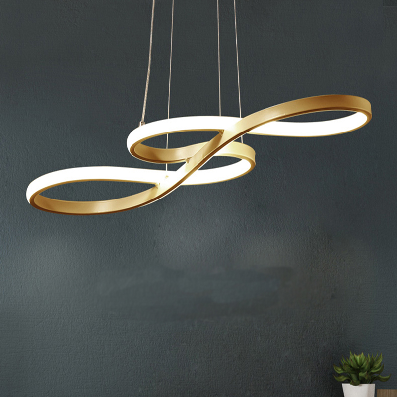 Streamlined Golden LED Pendant Lights Pendant Lights