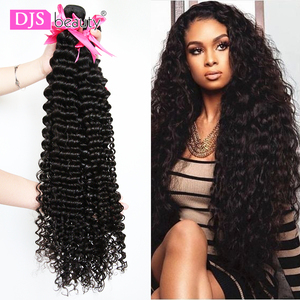 34 38 40 Inch Brazilian Hair Weave Bundles Curly Human Hair Bundles 1/3/4 Pieces Deep Wave Remy Human Hair Extension For Women(China)
