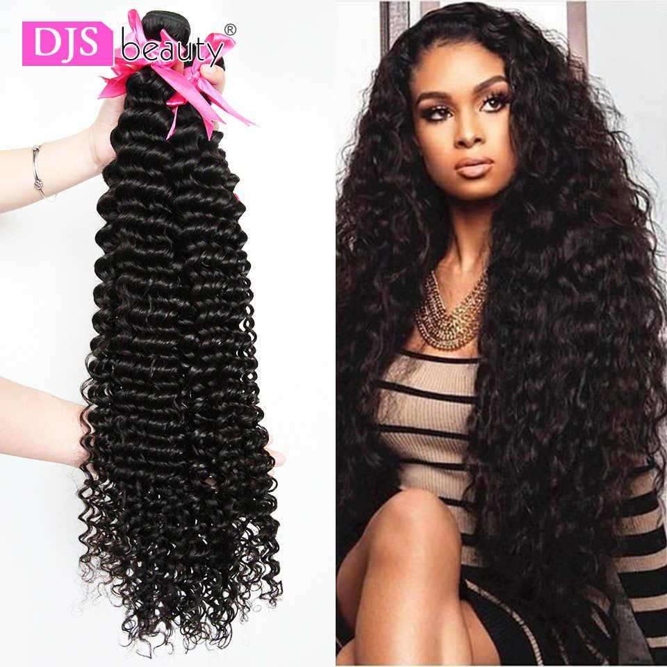 36 38 40 inç brezilyalı saç örgü demetleri kıvırcık insan saçı demetleri 1/3/4 adet derin dalga Remy İnsan saç uzatma kadınlar için