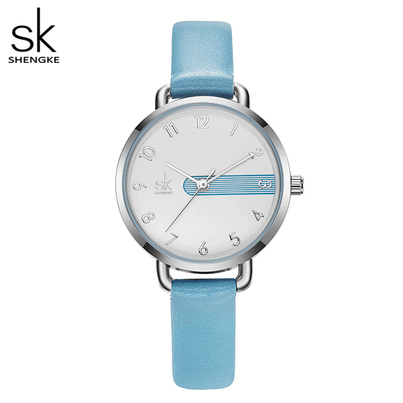 Shengke New Leather Watches Casual Women Watches 4 Colors Japanese Movement 3 ATM Waterproof watches for women Zegarek Damski