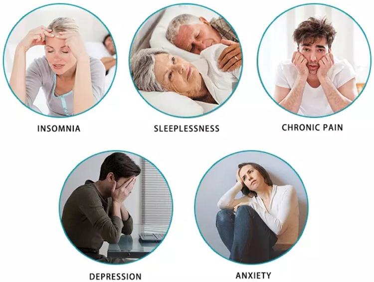 Dispozitiv de terapie CES fizică hipnotică pentru ameliorarea durerii de cap a migrenei fără fir