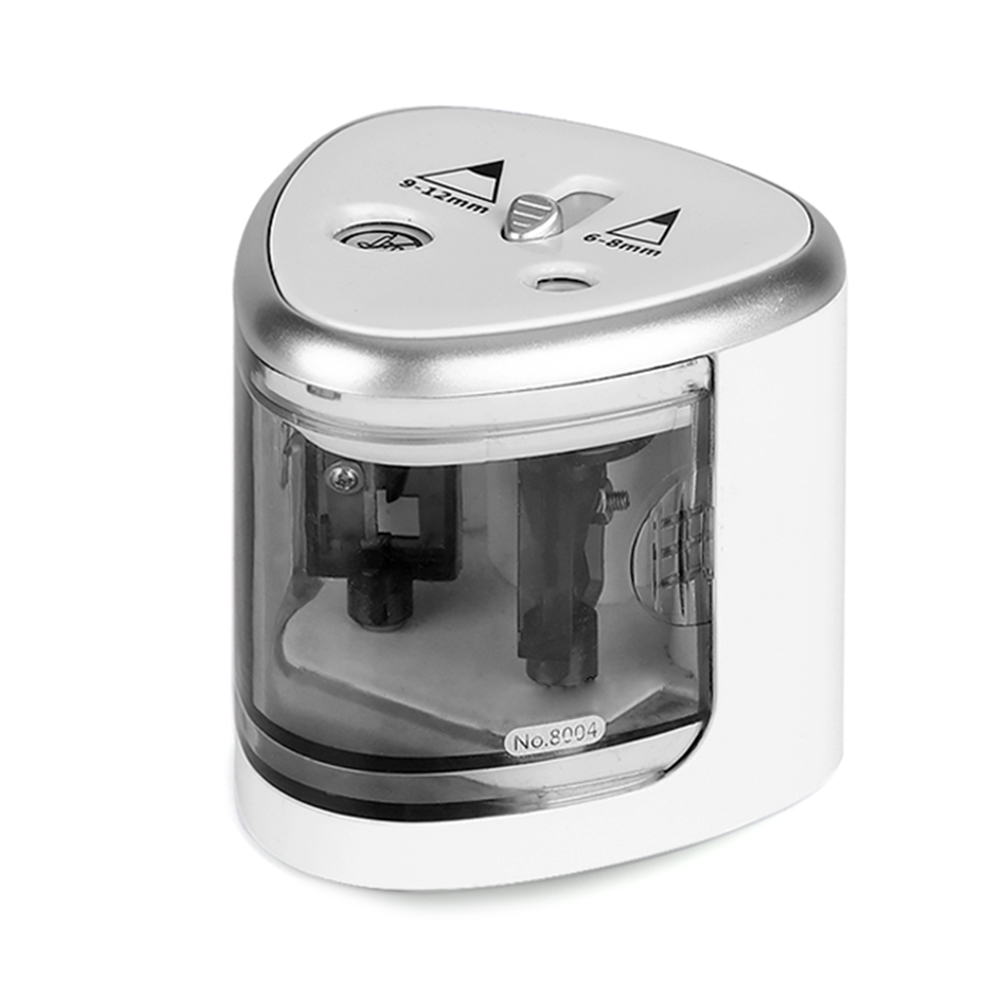 Automatic Pencil Sharpener Two-hole Electric Touch Switch Pencil Sharpeners Pen Knife Student School Supplies