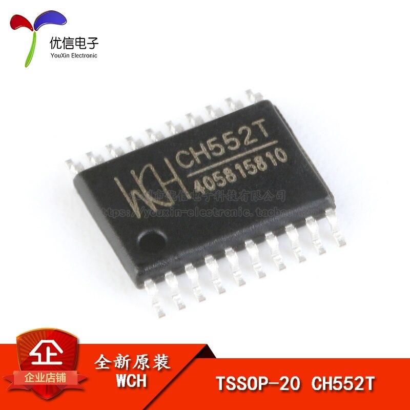 Оригинальный и аутентичный с накладными CH552T TSSOP-20 16KB 8-битный расширения USB один чип