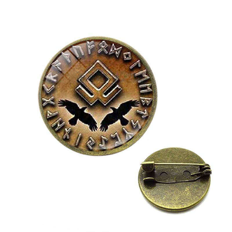 Topi Bisbol Viking Rahasia Bros Perdamaian Rune Di Rahasia Lingkaran Pin Viking Jimat Simbolisme Steampunk Jimat Jimat Perhiasan