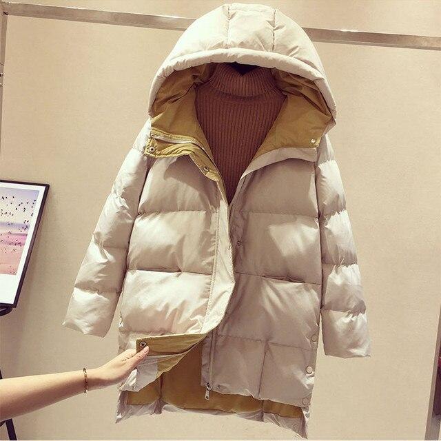 2020 Hiver femmes veste longue à capuche coton rembourré Femme Manteau haute qualité vêtements d'extérieur chauds femmes Parka Manteau Femme Hiver P787 5
